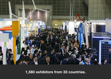 1,580 exhibitors from 33 countries.